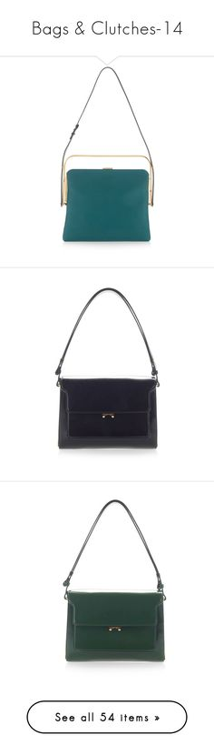 """""""Bags & Clutches-14"""" by larinhacarter ❤ liked on Polyvore featuring bags, handbags, shoulder bags, marni shoulder bag, handbag purse, green purse, kiss-lock handbags, man bag, patent purse and shoulder strap handbags"""