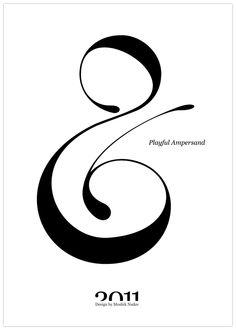 Playful Ampersand, 2011. Moshik Nadav Typography.