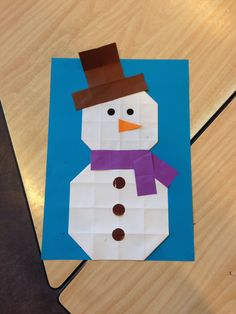 Make A Snowman, Class Activities, Diy For Kids, Triangle, December, Diy Crafts, Christmas, How To Make, Pictures