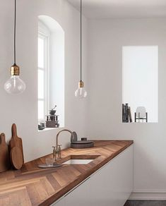 Kitchen trends 2019 - do it yourself decoration - interior - decoration interior .Kitchen trends 2019 - do it yourself decoration - INTERIOR - decoration interior kitchen trends do it yourselfDining chairs & kitchen Interior Design Minimalist, Interior Design Kitchen, Modern Interior Design, Natural Kitchen Interior, Minimal Home Design, Kitchen Wood Design, Minimalist Architecture, Clean Design, Home Decor Kitchen