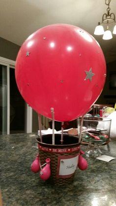 My Hot air balloon valentine's day box 2015 Baby Shower Card Message, Baby Shower Cards, Baby Boy Shower, Valentine Day Boxes, Valentines Day Party, Valentine Ideas, Air Balloon, Balloons, Balloon Ideas