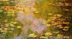 WATER - LILY  POND  --  CLAUDE  MONET  --  1919 .