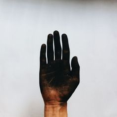 Soot covered hands after Fire based spells