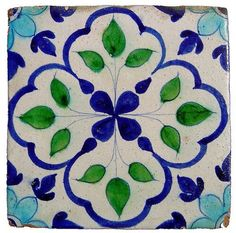 Glazed Tile from Hala, Sindh by zubairam Handmade tiles can be colour coordinated and customized re. shape, texture, pattern, etc. by ceramic design studios Clay Tiles, Mosaic Tiles, Tile Patterns, Print Patterns, Art Nouveau Tiles, Art Populaire, Glazed Tiles, Portuguese Tiles, Handmade Tiles