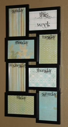 Going to be my meal plan-Calender board I think I would love this near our bar in the kitchen especially with things getting busy!