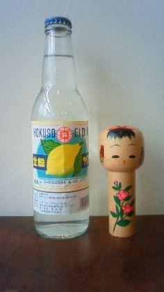 Lemon Soda Pop with Japanese  Kokeshi Doll Bottle Opener|北総サイダー
