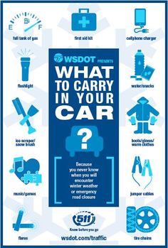 You never know when you'll encounter a #winter weather emergency. Create your #emergency car kit today.