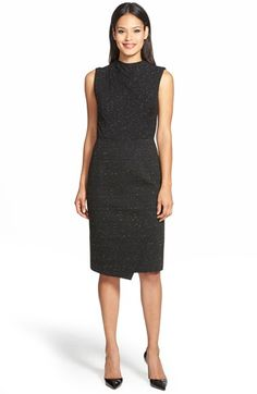 Classiques Entier® 'Pennellata' Ponte Sheath Dress (Regular & Petite) available at #Nordstrom