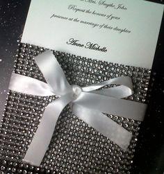 TATIYANA  Elegant Wedding Invitation with Bling by EnvyMeInvites, $168.75