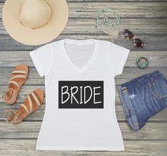 Planning for your best day ever is almost complete with our adorable personalized shirts. Shirts are a must have for any bride tribe. Let everyone know who's part of the PAAAA-RRTY! Wedding Party Shirts, Personalized Shirts, Best Day Ever, Good Day, Must Haves, Etsy Seller, T Shirts For Women, Bride, Unique