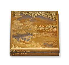 Autumn Scenes, Japanese Beauty, Incense, 19th Century, Art Decor, Vintage World Maps, Auction, Container, Asian