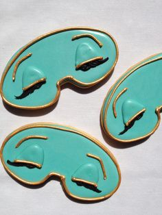 Holly Golightly ♥Sleep Mask Cookies perfect for a sleepover party!