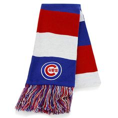 Show off your Cubs pride all year long with this Cubs scarf.