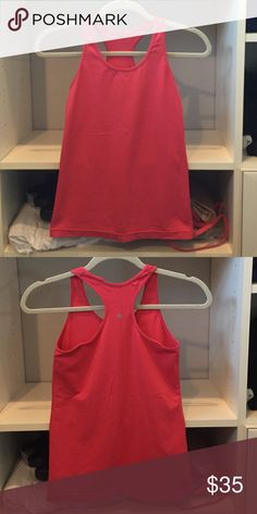 Lululemon racerback workout tank top Size 4...deep coral color...no flaws lululemon athletica Tops Tank Tops