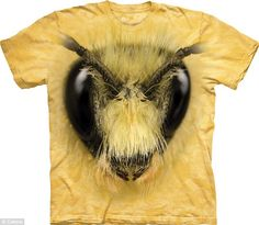 Lightbulb moment: The Mountain, which is behind prints including this 3D wasp face, wanted to be the 'only player' in the animal-themed T-shirt market