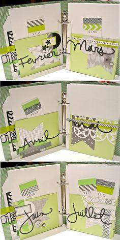 Ce samedi c'est MCscrap qui zoom sur les classeurs imprimés Kési'Art en vous présentant son petit mémo anniversaires ;-)  Famille, amis… tant de dates à retenir pour les anniversa… Calendrier Diy, Mini Albums Scrapbook, Smash Book, Mini Books, Scrapbooking, Card Stock, Blog, Bullet Journal, Notes