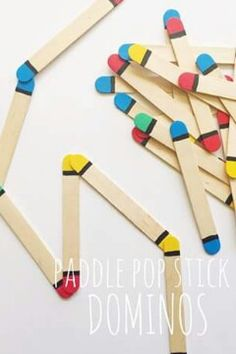 Dominoes with Popsicle Sticks.