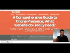 A Comprehensive Guide to Online Presence, What website do I really need? Small Business Marketing, Online Business, Marketing Consultant, Digital Marketing, Web Design, Advertising, Website, Design Web, Website Designs