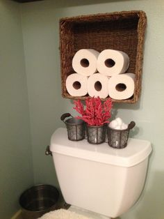 Toilet paper storage. I would use an old wood crate instead
