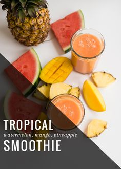 Healthy Watermelon Smoothie #ingredientmonth