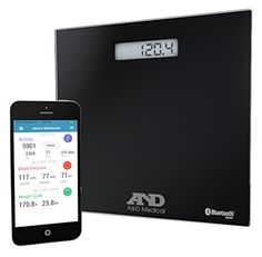 AandD Medical Wireless Connected Weight Scale, Black >>> More info could be found at the image url.