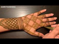 NEW REVERSE FILLING MEHNDI TECHNIQUE TUTORIAL | BEAUTIFUL LOTUS HENNA BRIDAL DESIGN - YouTube Henna Mehndi, Mehendi, Henna Designs, Tattoo Designs, Mehndi Video, Lotus Henna, Mahendi Design, Mehndi Design Photos, Wedding Mehndi