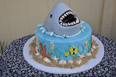 Shark Cake.  Designer Cakes by April