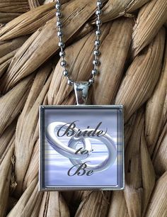 Bride To Be Engagement Pendant Necklace by MoonPoppyDesigns