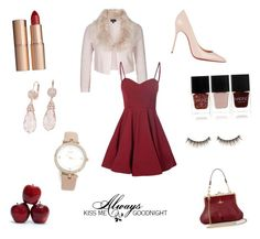 """""""Night Kisses"""" by aeren22 on Polyvore featuring City Chic, Glamorous, Christian Louboutin, Blue Nile, Charlotte Tilbury, Kate Spade, Nails Inc., Love Quotes Scarves and shu uemura"""