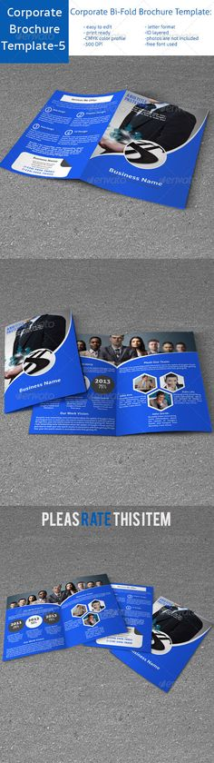 Corporate Bi-Fold Brochure Template-5  —  InDesign Template • Download ➝…