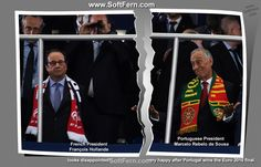 '>Portuguese President Marcelo Rebelo de Sousa very happy after Portugal wins the Euro 2016 final. French President François Hollande looks disappointed!         Video. Winners of Euro 2016 celebrate their victory after final. ... 30  PHOTOS        ... EURO 2016 CHAMPIONS: Portugal!        Original article:         http://softfern.com/NewsDtls.aspx?id=1106&catgry=6            #final, #Euro 2016 champions, #Gold medals, #Payet; Giroud