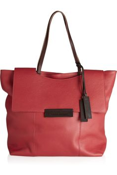 Textured-leather tote by Pauric Sweeney