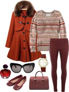 """""""H & M Sweater"""" by mandeerose ❤ liked on Polyvore"""
