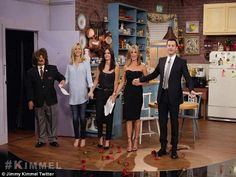 #JimmyKimmel Can't believe that they did this skit! Definitely made my day! They were just amazing <3 #FRIENDS20th #JenniferAniston #CourteneyCox #LisaKudrow