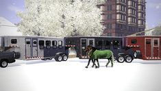 horse trailer - by Elsie McLaine on on Equus-Sims (part of ES 2015 Advent Calendar)
