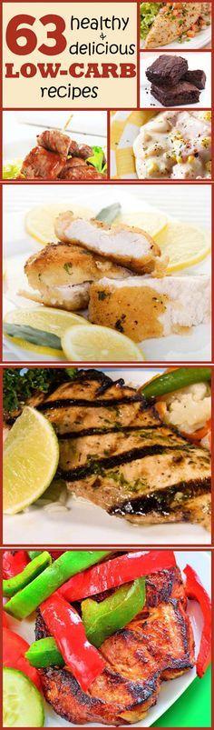 63 Healthy & Delicious LOW-CARB recipes