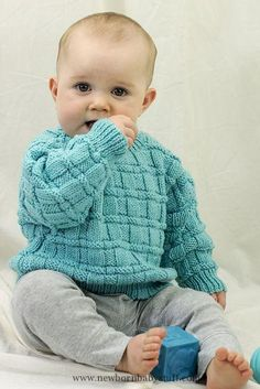 Baby Knitting Patterns Daniel's Pullover Free Baby Knitting Pattern...