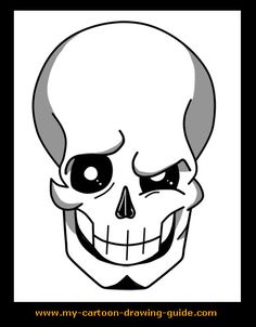 Learn How to Draw Skull Cartoons right here with each simple step by step online drawing lesson! Skull Drawings, Cartoon Drawings, Drawing Lessons, Drawing Art, Drawing Ideas, Online Drawing, Simple Skull, Finger Tattoos, Learn To Draw