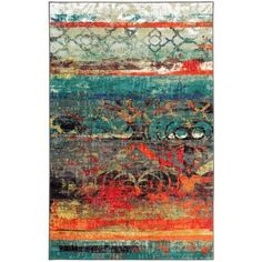 Mohawk Home Strata Eroded Color Multi Printed Area Rug & Reviews | Wayfair
