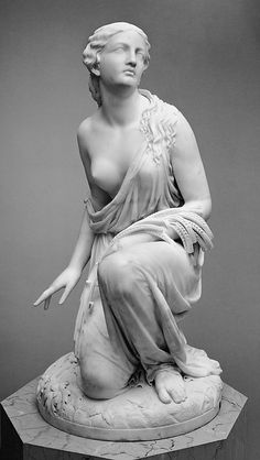 Randolph Rogers  (1825–1892) | Ruth Gleaning. Date:     1850; carved 1855 or 1856. Medium:     Marble. Dimensions:     45 3/4 x 23 3/4 x 24 in. (116.2 x 60.3 x 61 cm). Classification:     Sculpture.