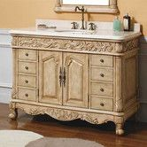 "Found it at Wayfair - Parchment 48"" Single Bathroom Vanity Set"