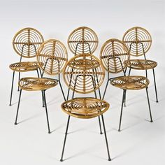 Galerie Riviera | Collection, Thonet, curved rattan chairs. for dining room. bend something and spray paint gold #RattanChair