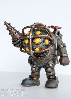 EPBOT: Give Your Funko Pops Extra OOMPH: Easy Aging! (BioShock's Big Daddy & Songbird )