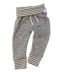 Lulu and Roo French Terry Sweats in Charcoal with Gray Stripes – Roman & Leo
