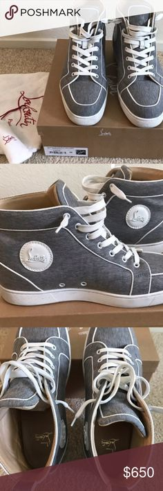 CHRISTIAN LOUBOUTIN SNEAKERS 100% authentic Great condition used twice.  Amazing to any collection Christian Louboutin Shoes Sneakers