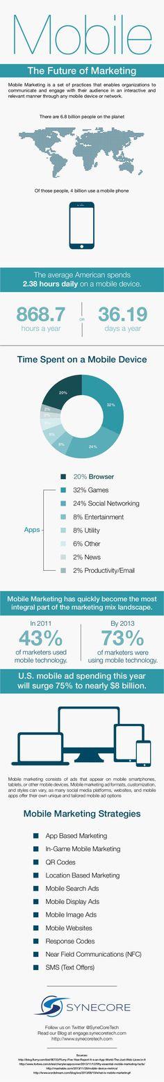 Mobile the future of marketing #infografia #infographic #marketing
