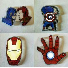 Pins close up Civil War collection!! Choose your side! (tane/each one :8 tl  4$ ) #shrink #pins #rozet #plasticpins  #picoftheday #brooch #quoteoftheday  #style  #ironman  #handmade  #instamood #instagood  #designer #accessory #instastyle #art  #tonystark  #tagsforlikes #captainamerica #doodle #drawing  #etsyhandmade #civilwar #marvel #wintersoldier #teamcap #teamironman  #followme #instadaily #artoftheday by thecooolmonster