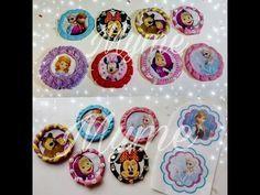 """12 princesas de Resina /""""Centros para moños/"""""""