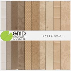 Basic Kraft Papers by Gina Miller