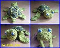 Super cute turtle hat. Free pattern.